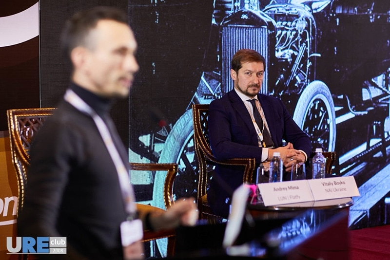 During the first day of the forum at the panel discussion on urbanism, real estate and consumers CEO of NAI Ukraine Vitalii Boiko told about differences in approaches to work in Kazakshtan and Ukraine, as well as explained how global trends influence real estate in various countries. Among other speakers of the panel discussion were Andriy Vavrysh, CEO SAGA DEvelopment, as well as Arie Shwartz, CEO Seven Hills International Development and Andriy Mima, co-founder of Lun.ua and Flatfy.