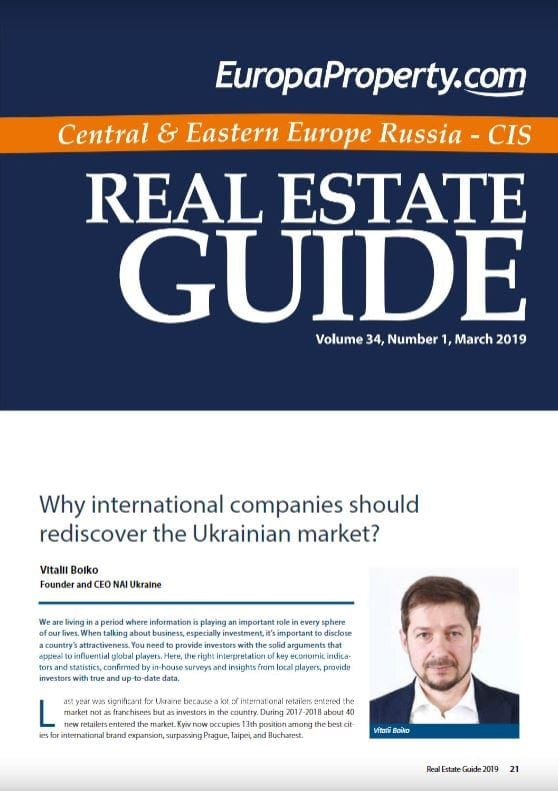 Why international companies should rediscover the Ukrainian market? Статья Виталия Бойко в Real Estate Guide