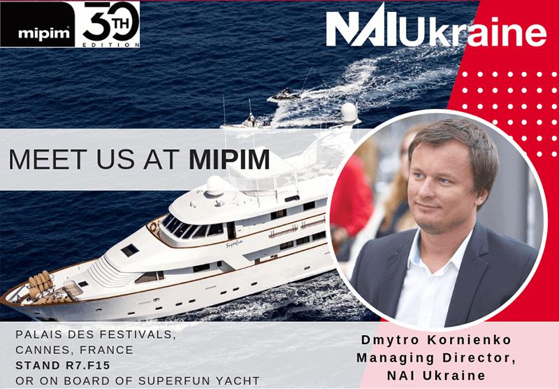 NAI Ukraine на MIPIM 2019 представить проекти клієнтів міжнародним інвесторам