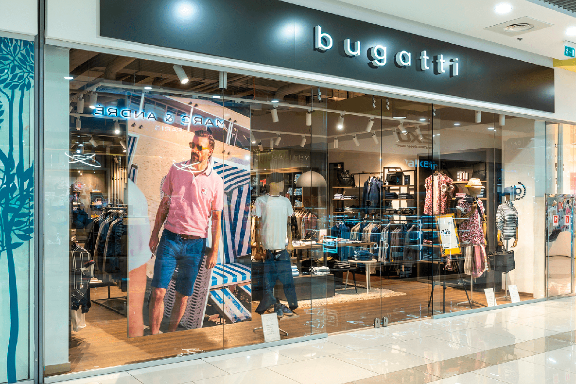 European brand Bugatti is now at Blockbuster Mall