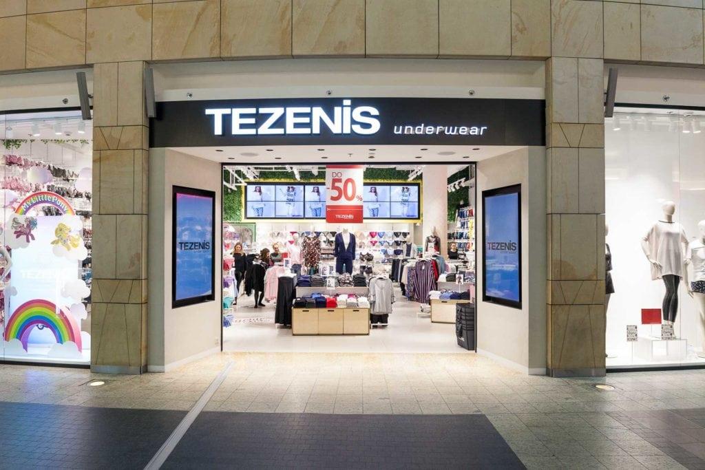 Молодежный магазин итальянского белья TEZENIS — уже в Blockbuster Mall